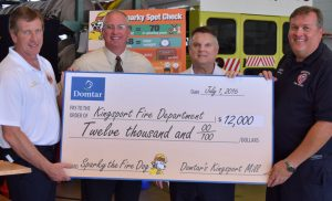 Kingsport Mill Donates $12,000 to buy new Sparky the Fire Dog
