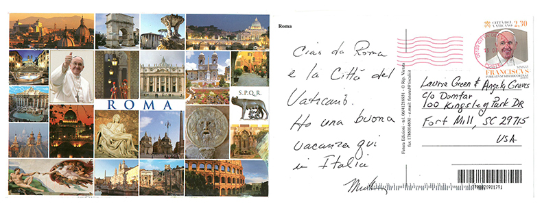 Put It On A Postcard campaign Italy